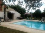 Des Arbres swimming pool and terrace