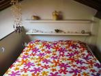 the double bed in the Loft