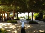 The beautiful surroundings of the Village Square