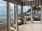 Conservatory with Panoramic Sea Views over Ventnor Bay