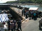 Crail Harbour during food festival