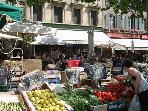 Carcassonne Market held three times a week in the old town
