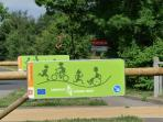 A proximité de l'Avenue verte reliant Paris à Londres à vélo