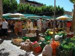 Pollensa, Fruit Market on Sunday