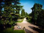 Private driveway to the Villa