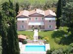 Villa Costasanti and the swimming pool