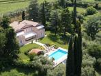 Villa Costasanti and the surrounding park