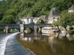JOINING OF 2 RIVERS AT BRANTOME
