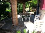 terrazza con barbecue