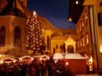 St Wolfgang Christmas Market at night