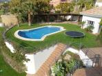 Upper garden/swimming pool/pergola/barbecue area