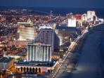 View of Atlantic City at night looking North