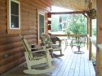 Front porch of Jack's little log cabin