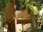 A tree house in the garden. Great fun!