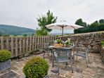 Enjoy breakfast in the rear garden,taking in the splendid views of Chatsworth Estate