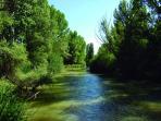 Bello paisaje del rio Duero