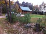 Two bedroom log cabin w/ loft on 1acre