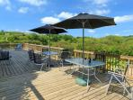 Relax on the decking and watch the red kites circle overhead
