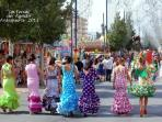 August Fair - beatiful girls come out all dressed in their ´ Flamenco Dresses´