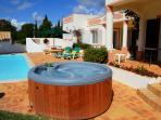 Hot tub and terrace