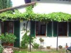 Pergola and entry in Garden apartment