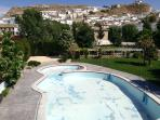 Galera pool in landscaped gardens Walking distance. Open July and August.