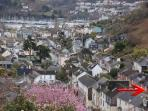 Property Location - a short walk to the town and harbour