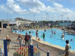Sutton-on-Sea paddling pool and childrens play areas.