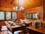 Marmotte Mountain Retreat Dining Room offering self-catered or catered services