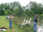 You can fish at our trout pond during your stay with us