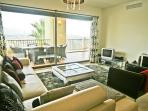 Comfortable lounge with direct terrace access