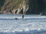 Surfers at Bantham beach
