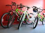 Set of 4 bikes