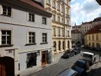 View from the window towards Liliová street