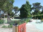 Playground (and basket ball court)