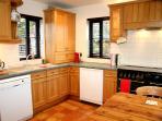 Hand built kitchen with Leisure Range gas cooker