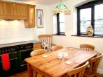 Kitchen with views onto the country lane and over the fields