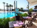 Summer club pool (sea water) and restaurant
