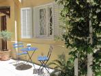 Private sunny terrace