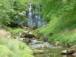 Hebden Beck waterfall - about a 10 minute walk from the cottage.