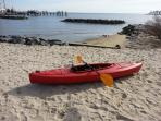 One of 2 new kayaks - for guest use!  Book now and get preferred rates.