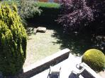 Vista del jardín desde la segunda planta