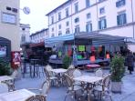 Markets in the Piazza - Wed & Sat - I bought a 5 Euro coat & my daughter bought 10 items for