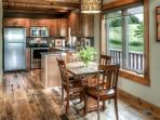 Fully equipped kitchen with granite countertops!