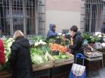 Fantastic fresh produce at the market three times a week. Two minutes walk from apartment.