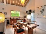 Dining for up to 6 guests and a fully equipped kitchen at Villa 007.
