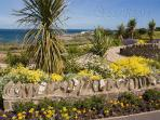 Drummore village (2 miles) from cottages, welcome garden with views over the bay to the Machars!