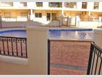 The pool from our terrace