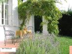 Enjoy the lavendar from the terrace!