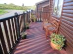 Decking area for morning coffee in the sun